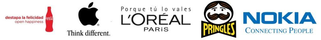 Logos con eslogan